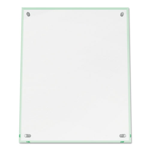 Superior Image Beveled Edge Sign Holder, Letter Insert, Clear/Green-Tinted Edges. Picture 8