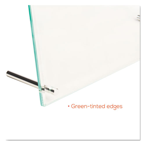 Superior Image Beveled Edge Sign Holder, Letter Insert, Clear/Green-Tinted Edges. Picture 12