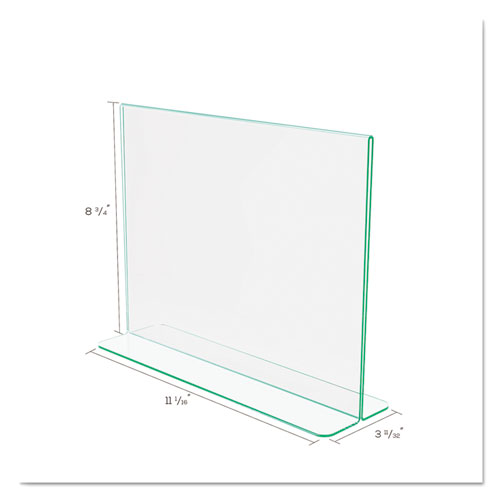 Superior Image Premium Green Edge Sign Holders, 11 x 8 1/2 Insert, Clear/Green. Picture 5
