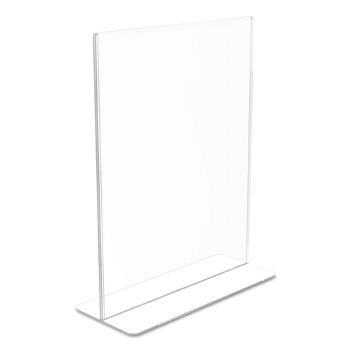 Superior Image Double Sided Sign Holder, 8 1/2 x 11 Insert, Clear. Picture 7