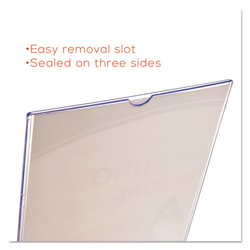 Superior Image Slanted Sign Holder, Portrait, 8 1/2 x 11 Insert, Clear. Picture 10