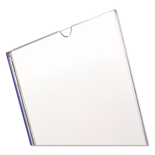 Superior Image Slanted Sign Holder, Portrait, 8 1/2 x 11 Insert, Clear. Picture 11