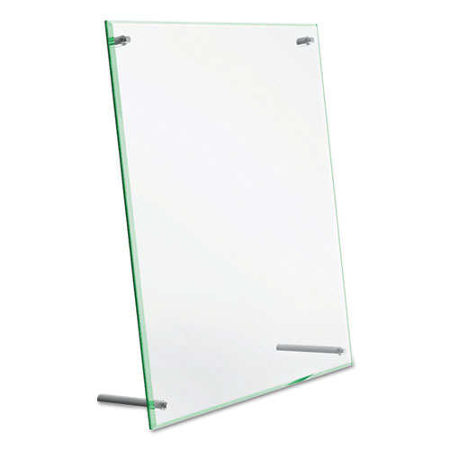 Superior Image Beveled Edge Sign Holder, Letter Insert, Clear/Green-Tinted Edges. Picture 7