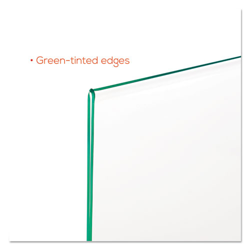 Superior Image Premium Green Edge Sign Holders, 11 x 8 1/2 Insert, Clear/Green. Picture 10
