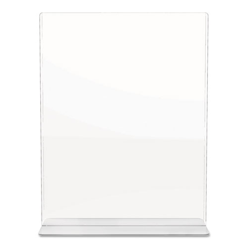 Superior Image Double Sided Sign Holder, 8 1/2 x 11 Insert, Clear. Picture 8