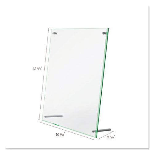 Superior Image Beveled Edge Sign Holder, Letter Insert, Clear/Green-Tinted Edges. Picture 5