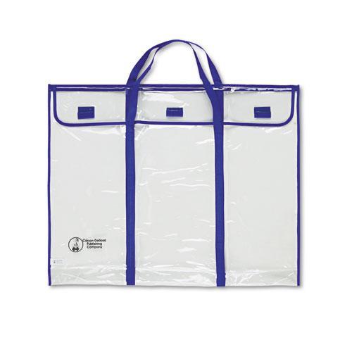 "Bulletin Board Storage Bag, Blue/Clear, 30"" x 24"". Picture 1"