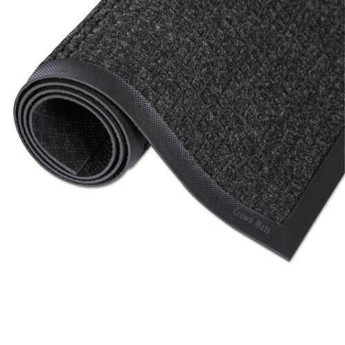Super-Soaker Wiper Mat with Gripper Bottom, Polypropylene, 24 x 36, Charcoal. Picture 2