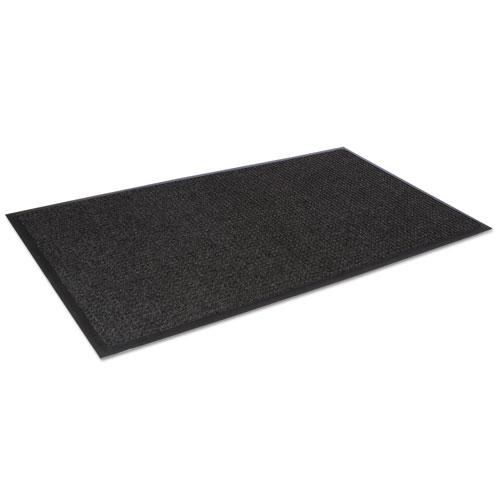 Super-Soaker Wiper Mat with Gripper Bottom, Polypropylene, 24 x 36, Charcoal. Picture 3