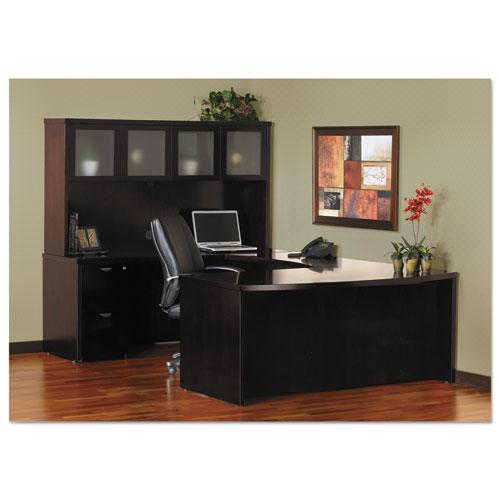 Mira Series File/File Credenza Pedestal, 15w x 22d x 27¾h, Espresso. Picture 3