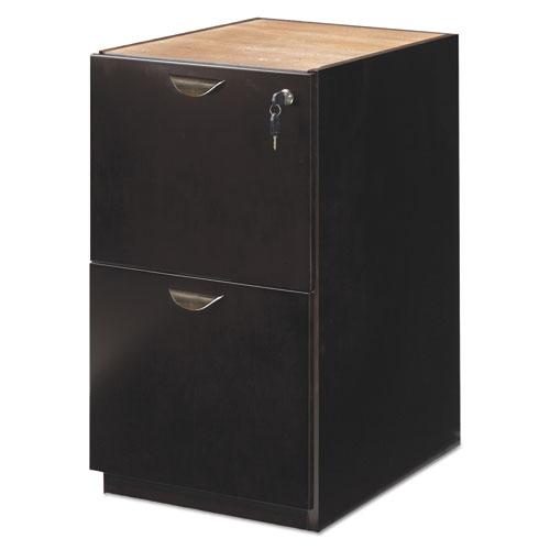 Mira Series File/File Credenza Pedestal, 15w x 22d x 27¾h, Espresso. Picture 4