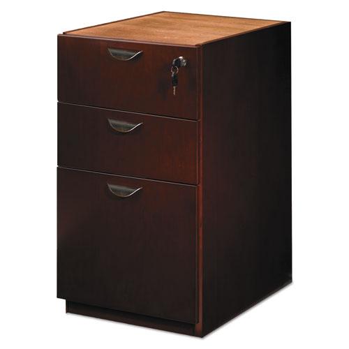 Mira Series Box/Box/File Credenza Pedestal, 15w x 22d x 27¾h, Medium Cherry. Picture 4