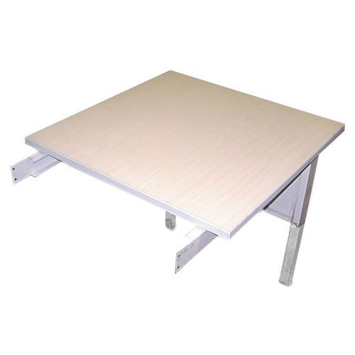 Mailflow-To-Go Mailroom System Table, 30w x 30d x 29-36h, Pebble Gray. Picture 2