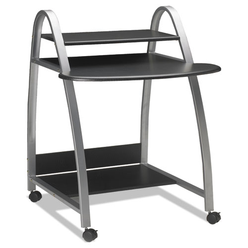 Eastwinds Arch Computer Cart, 31-1/2w x 34-1/2d x 37h, Anthracite. Picture 3