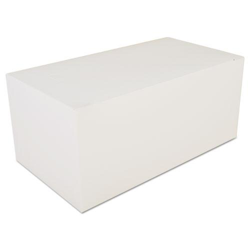 Carryout Tuck Top Boxes, White, 9 x 5 x 4, Paperboard, 250/Carton. Picture 1