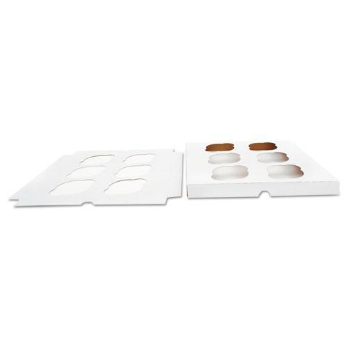 Cupcake Holder Inserts, Paperboard, White/Kraft, 9 7/8 x 9 7/8 x 7/8, 200/Ctn. Picture 1