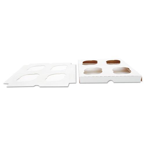 Cupcake Holder Inserts, 7.88 x 7.88 x 0.88, White/Kraft, 200/Carton. Picture 1
