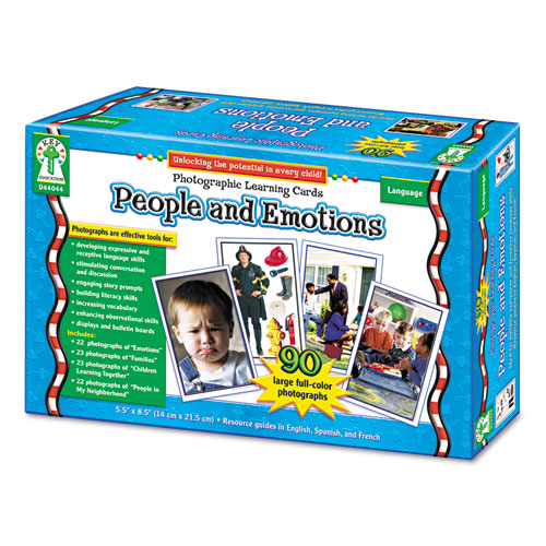 Photographic Learning Cards Boxed Set, People and Emotions, Grades K-5. Picture 1