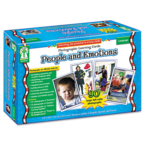 Photographic Learning Cards Boxed Set, People and Emotions, Grades K-5. Picture 2