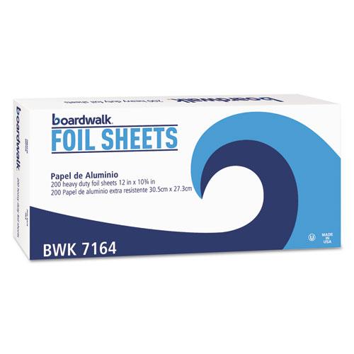 """Heavy-Duty Aluminum Foil Pop-Up Sheets, 12"""" x 10 3/4"""", 200/Box, 12 Boxes/Carton. Picture 1"""