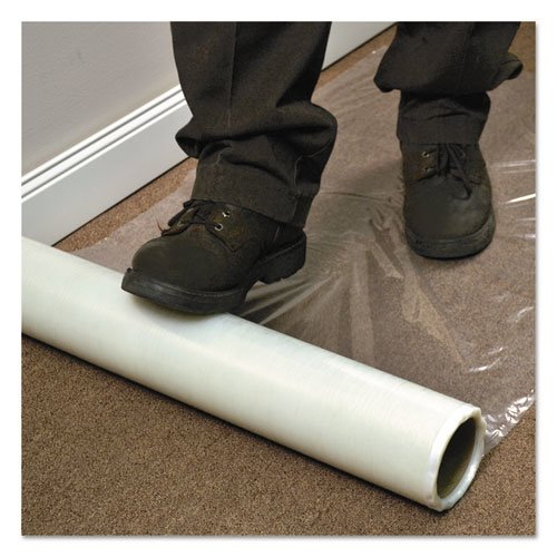 """Roll Guard Temporary Floor Protection Film for Carpet, 36"""" x 200 ft, Clear. Picture 1"""