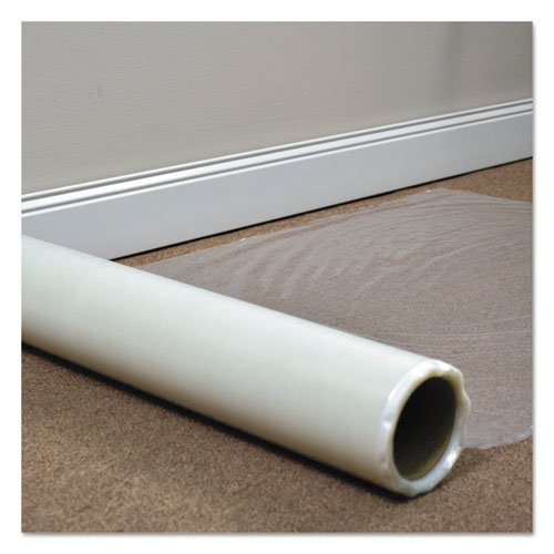 """Roll Guard Temporary Floor Protection Film for Carpet, 36"""" x 200 ft, Clear. Picture 2"""