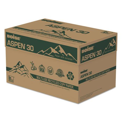 ASPEN 30 Multi-Use Recycled Paper, 92 Bright, 20lb, 8.5 x 14, White, 500 Sheets/Ream, 10 Reams/Carton. Picture 2