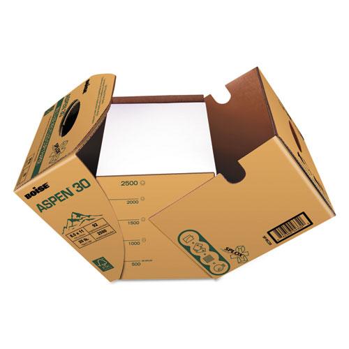 ASPEN 30 SPLOX Multi-Use Paper, 92 Bright, 20 lb, 8.5 x 11, White, 2500 Sheets/Carton. Picture 1