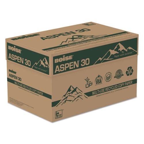 ASPEN 30 Multi-Use Recycled Paper, 92 Bright, 20lb, 8.5 x 14, White, 500 Sheets/Ream, 10 Reams/Carton. Picture 3