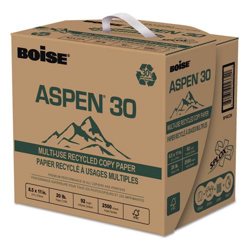 ASPEN 30 SPLOX Multi-Use Paper, 92 Bright, 20 lb, 8.5 x 11, White, 2500 Sheets/Carton. Picture 2