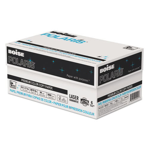 POLARIS Premium Color Copy Paper, 98 Bright, 28lb, 11 x 17, White, 500/Ream. Picture 3