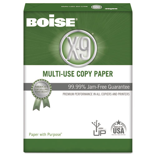 X-9 Multi-Use Copy Paper, 92 Bright, 20lb, 8.5 x 11, White, 500 Sheets/Ream, 10 Reams/Carton, 40 Cartons/Pallet. Picture 2