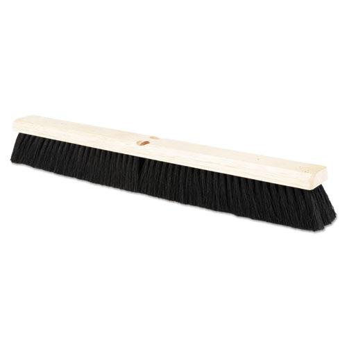 """Floor Brush Head, 2 1/2"""" Black Tampico Fiber, 24"""". Picture 1"""