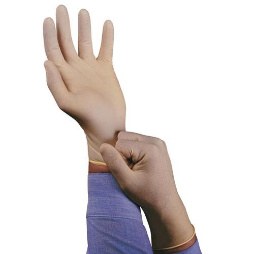 XT Premium Latex Disposable Gloves, Powder-Free, Medium, 100/Box. Picture 2
