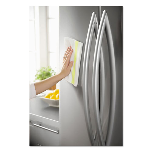 HYGEN Sanitizer Safe Microfiber Cloth, 16 x 19, White/Yellow, 288/Carton. Picture 1