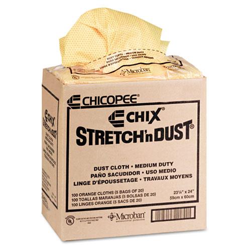 Stretch 'n Dust Cloths, 23 1/4 x 24, Orange/Yellow, 20/Bag, 5 Bags/Carton. Picture 2
