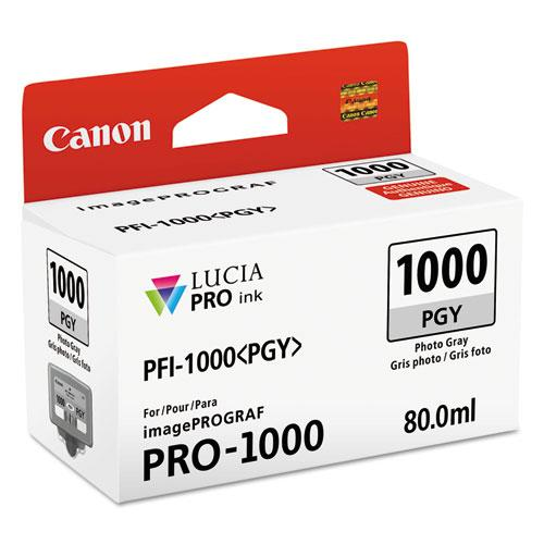 0553C002 (PFI-1000) Lucia Pro Ink, 80 mL, Photo Gray. Picture 1
