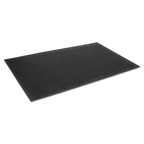 Crown-Tred Indoor/Outdoor Scraper Mat, Rubber, 34 x 111, Black. Picture 1