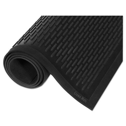 Crown-Tred Indoor/Outdoor Scraper Mat, Rubber, 34 x 111, Black. Picture 2