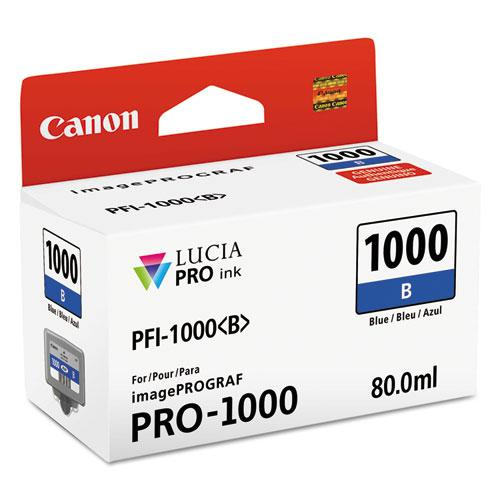 0555C002 (PFI-1000) Lucia Pro Ink, 80 mL, Blue. Picture 1