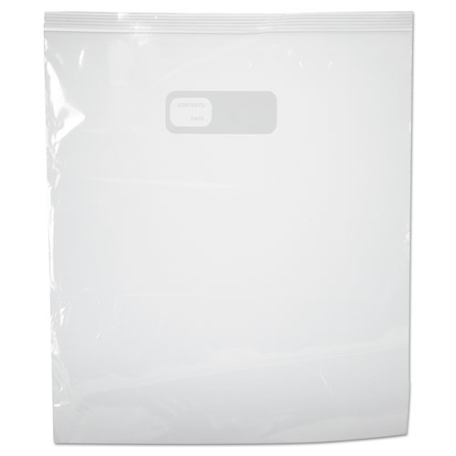 "Reclosable Food Storage Bags, 2 gal, 1.75 mil, 13"" x 15"", Clear, 100/Box. Picture 2"