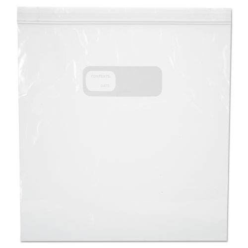 "Reclosable Food Storage Bags, 1 gal, 1.75 mil, 10.5"" x 11"", Clear, 250/Box. Picture 1"