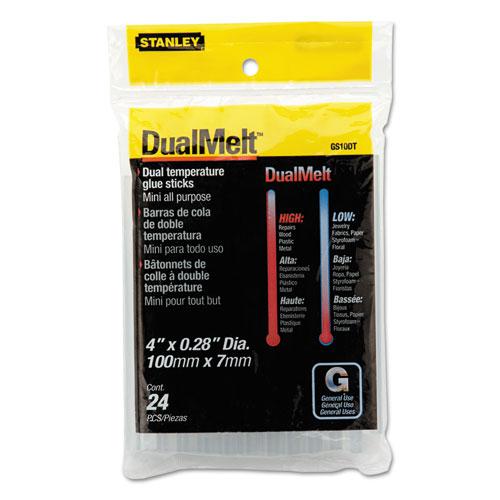 """Dual Temperature Mini Glue Sticks, 0.28"""" x 4"""", Dries Clear, 24/Pack. Picture 1"""