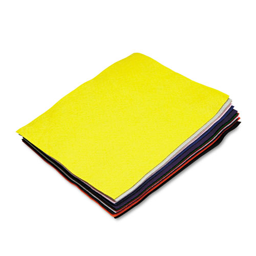 Felt Sheet Pack, Rectangular, 9 x 12, Assorted Colors, 12/Pack. Picture 1