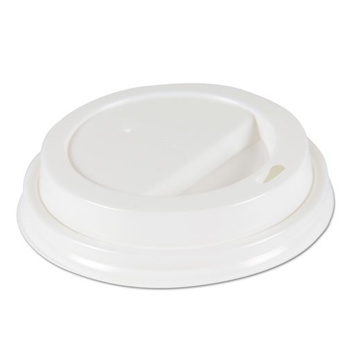 Deerfield Hot Cup Lids for 10oz - 20oz Cups, White, Plastic, 50/PK, 20 PK/Carton. Picture 1