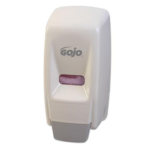 "Bag-In-Box Liquid Soap Dispenser, 800 mL, 5.75"" x 5.5"" x 5.13"", White. Picture 2"