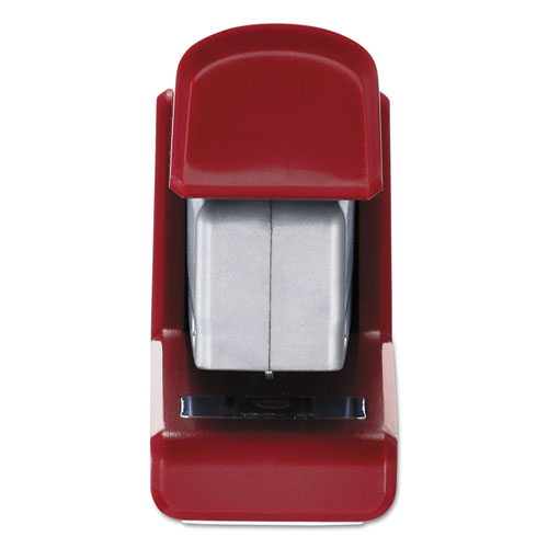 InJoy Spring-Powered Compact Stapler, 20-Sheet Capacity, Red. Picture 2