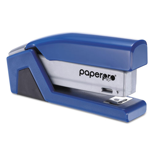 InJoy Spring-Powered Compact Stapler, 20-Sheet Capacity, Blue. Picture 4