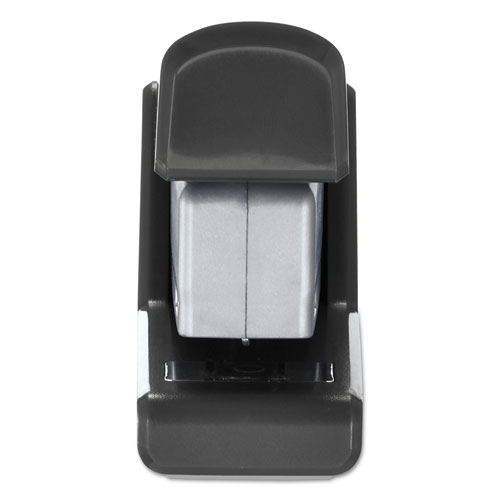 InJoy Spring-Powered Compact Stapler, 20-Sheet Capacity, Black. Picture 3