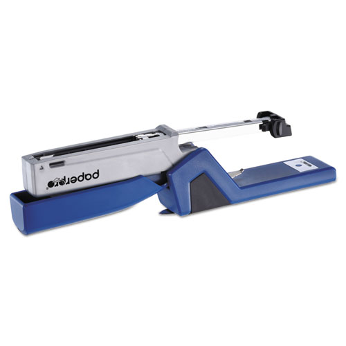InJoy Spring-Powered Compact Stapler, 20-Sheet Capacity, Blue. Picture 5